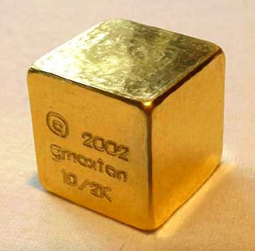 1 Optional This Is A 1 Quot Cube Of Solid 99 9 Gold